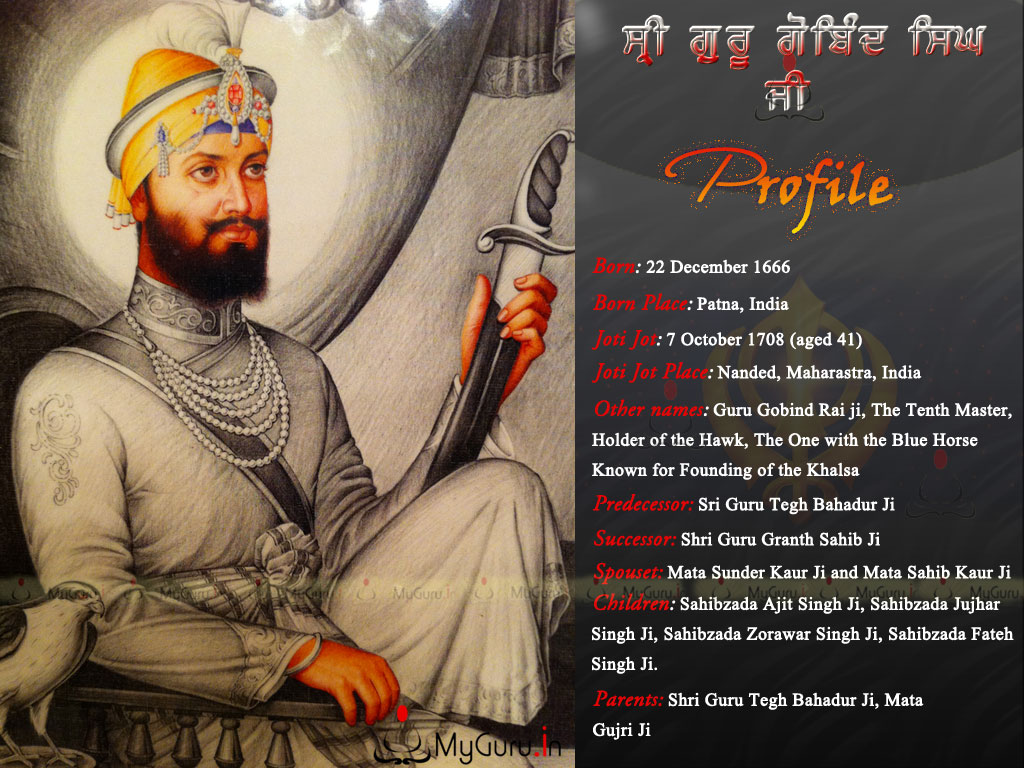 Guru Gobind Singh Ji Wallpapers Images Of Photos Pictures
