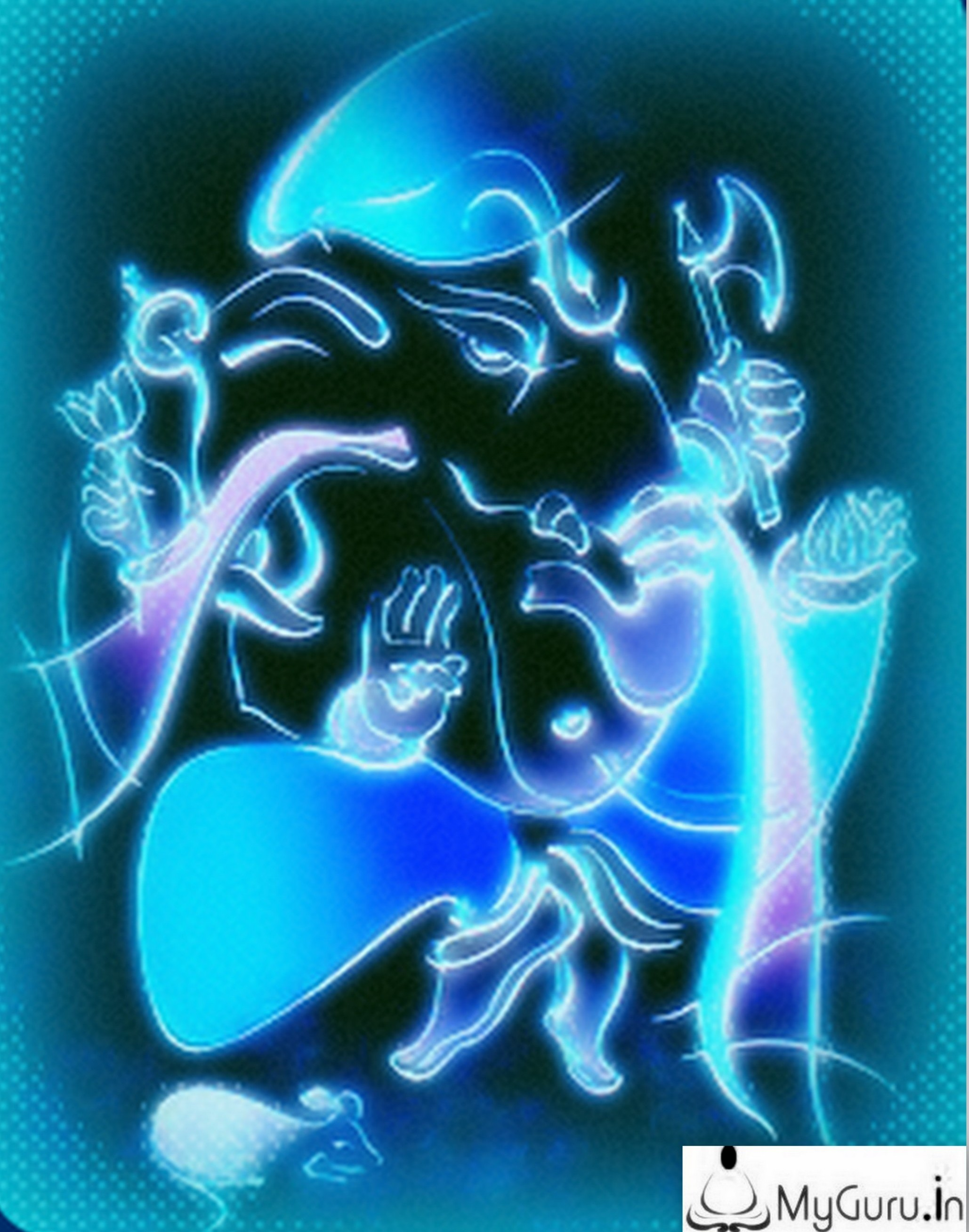 Lord Ganesha with shine of OM